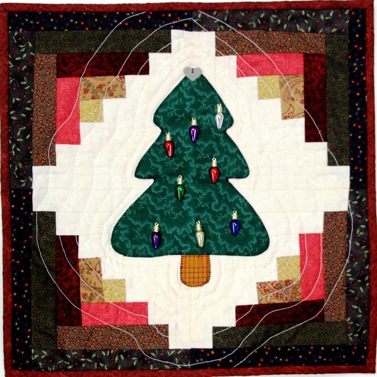 Pieced Wall Hanging Christmas Tree