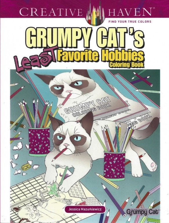 Grumpoy Cat's Least Favorite Hobbies Coloring Book By Dover Publications